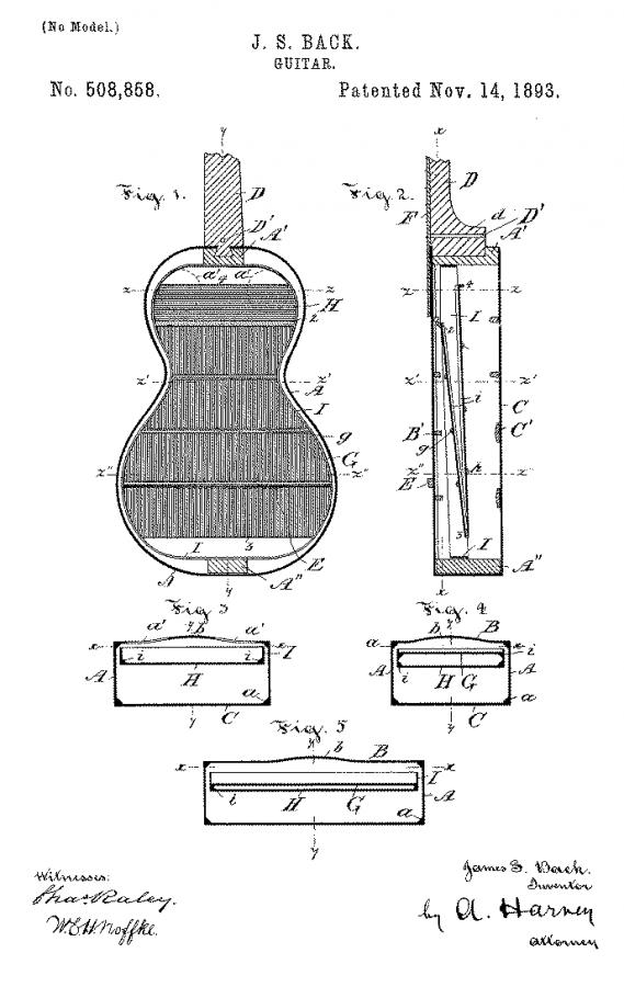 Not Loar, Not Gibson: Merrill and Back-h_o_guitar_patent_draw-jpg