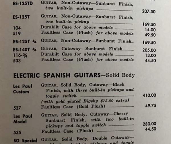 1956/7 Gibson ES-140T - Natural-1959-60_pricelist-png