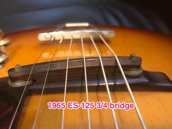 1956/7 Gibson ES-140T - Natural-65bridge-jpg