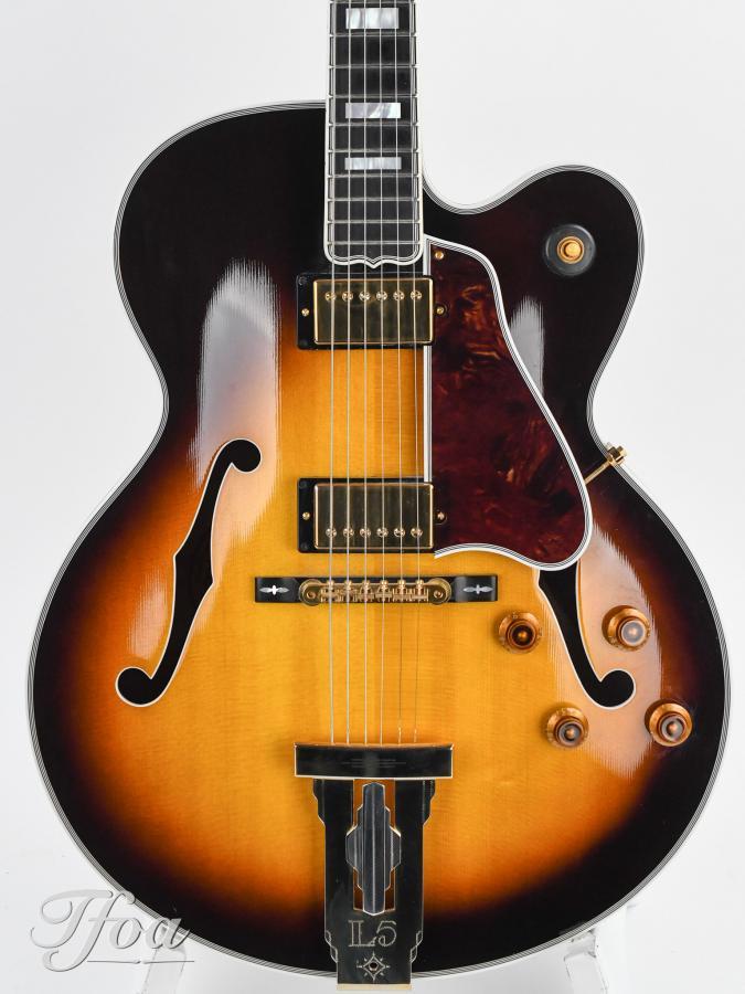 2002 Gibson L5CES-2002-gibson-l5-ces-sunburst-jim-hutchins-signed_9_front-body-jpg