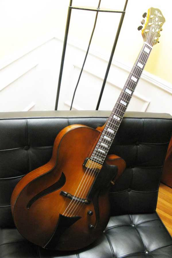 Modern jazz guitars with cello / violin like finish-arch46a-jpg
