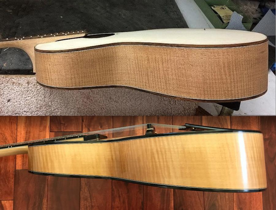 """Comins 16"""" Acoustic Oval Hole Hybrid Archtop-taper-jpg"""