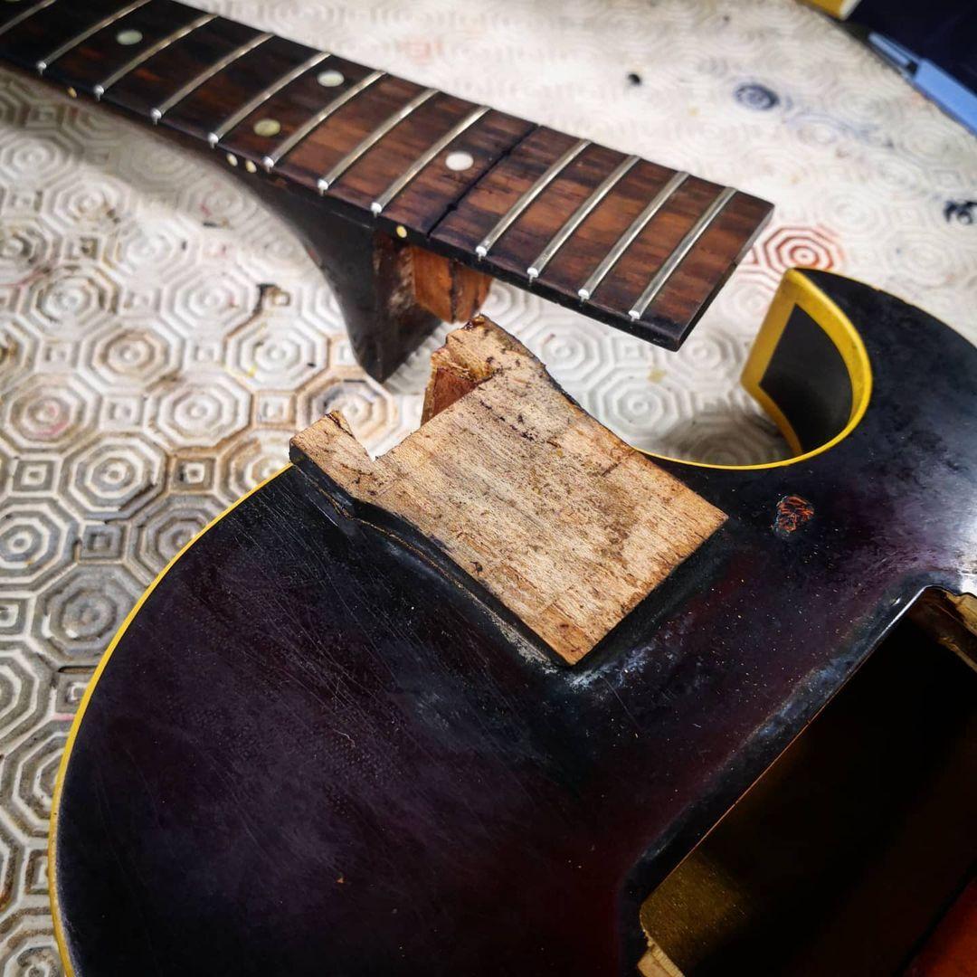 1956/7 Gibson ES-140T - Natural-es140-neck-jpeg