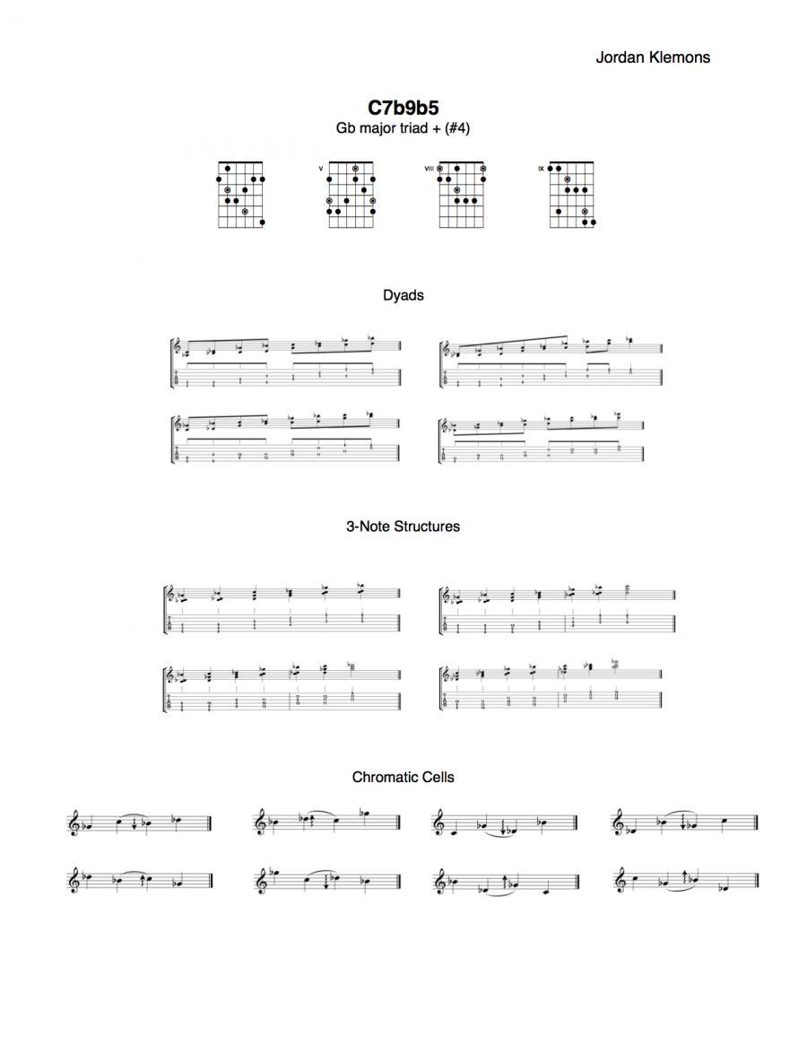 Improvisational Ideas Over A 7b9b5 Chord