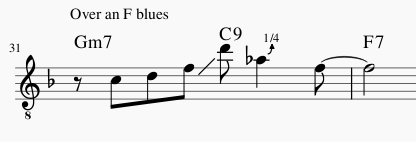Fewell's Melodic Approach - Ch. 4 (Dominants & Blues)-bahnzo-lick-png