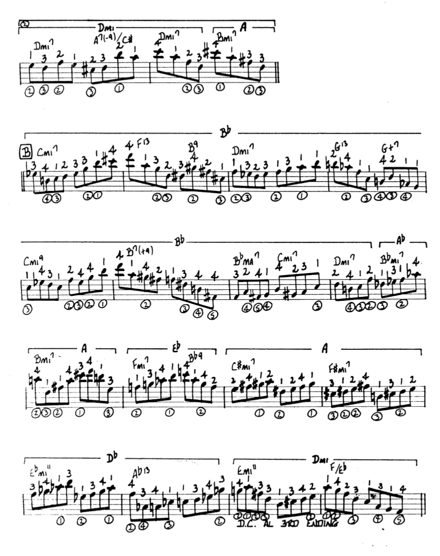 Howard Roberts Super Chops: study group for a tune based practice routine-screen-shot-2021-01-21-8-29-11-pm-png