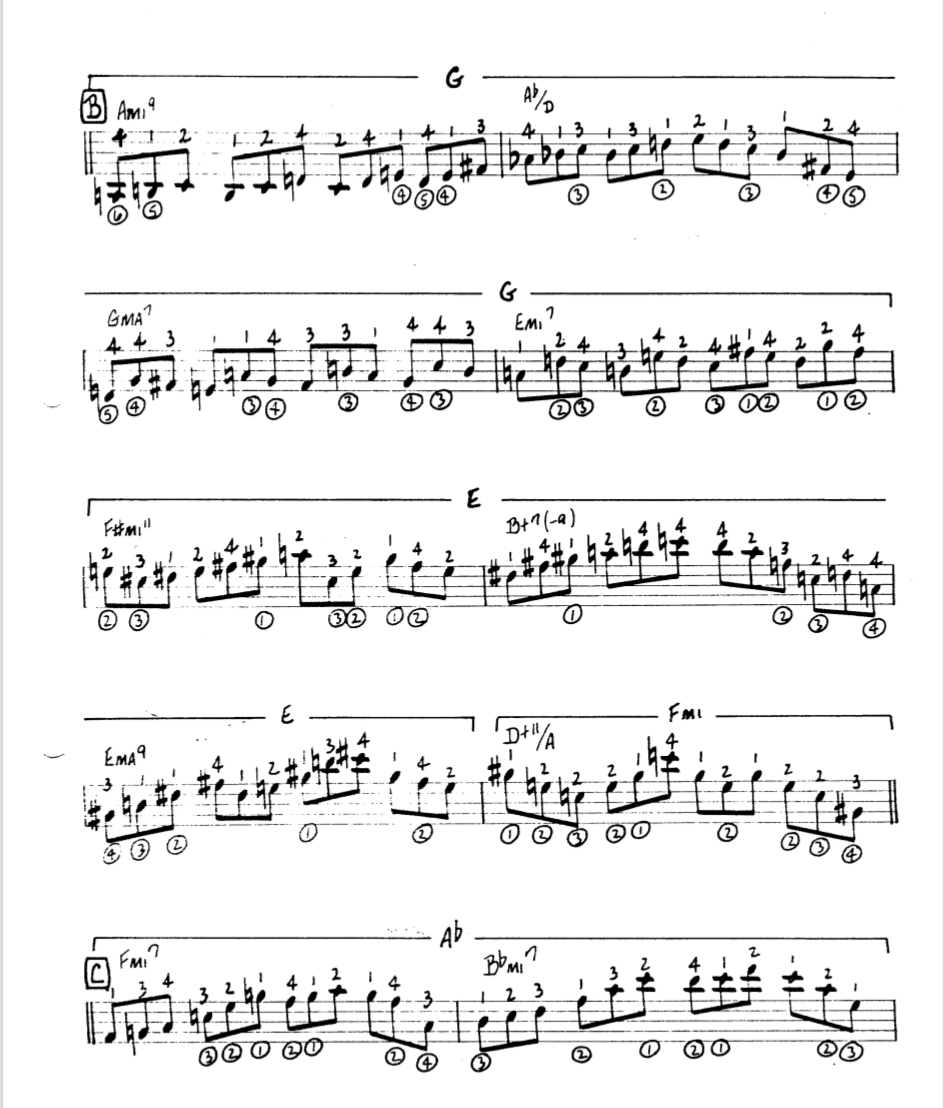 Howard Roberts Super Chops: study group for a tune based practice routine-screen-shot-2021-01-24-6-49-43-pm-png