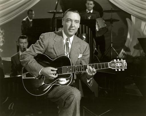 Vintage photo: Alvino Rey playing Eddie Lang's Gibson L-5-alvino-rey-w-eddie-langs-l-5-jpg