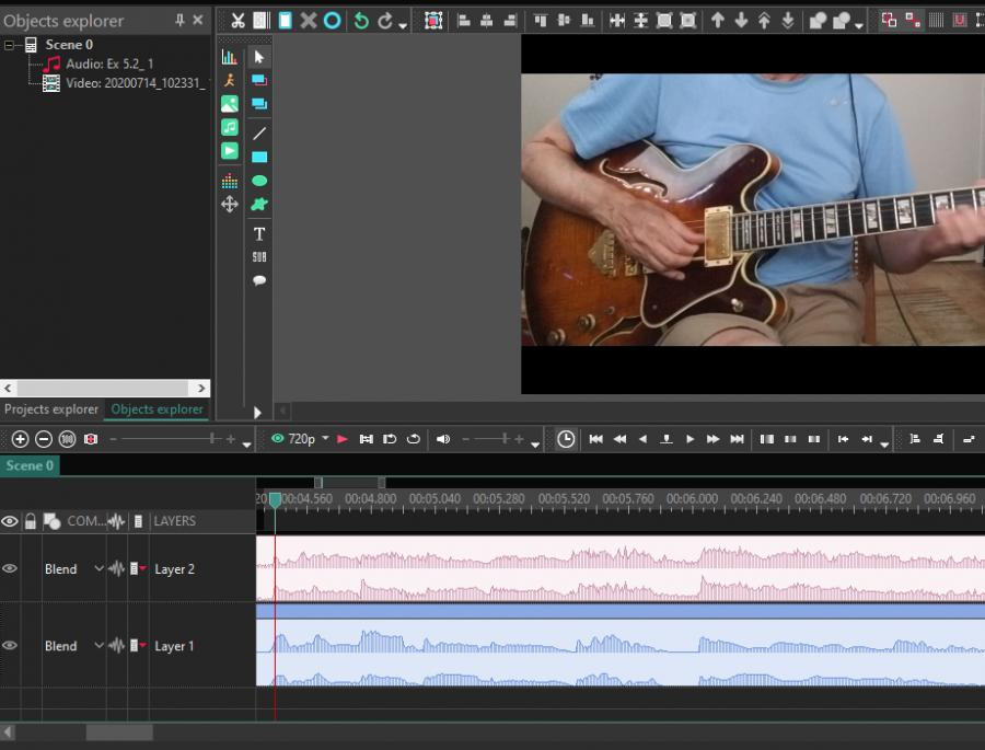 Syncing video tracks-vsdc-waveform-jpg