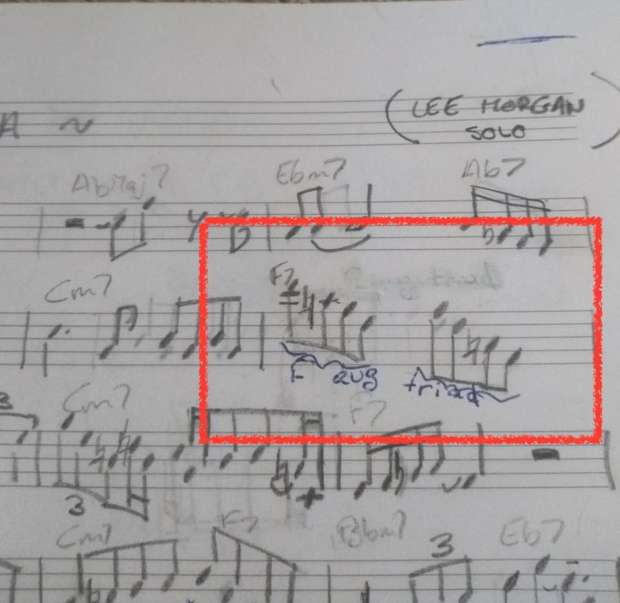 Lee Morgan's use of the augmented triad on Ceora-img_20200401_172502106-jpg
