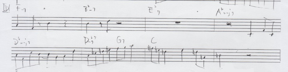 Playing a minor scale a half step down from a Maj7 chord?-z-jpg