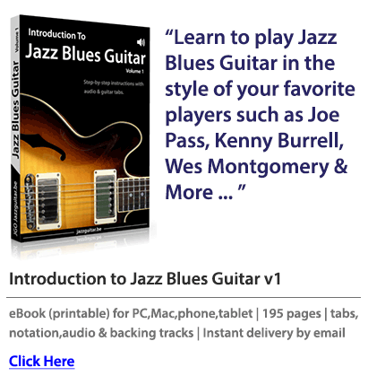 The Jazz Blues Guitar eBook