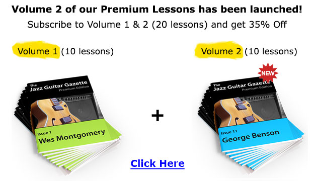 Premium Jazz Guitar Gazette Volume 1 & 2 Promo