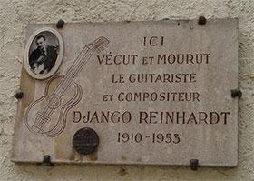 Django Reinhardt Plaque