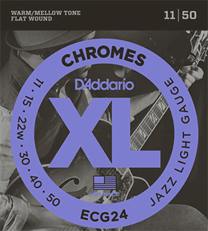 D'addario ECG24 jazz guitar strings