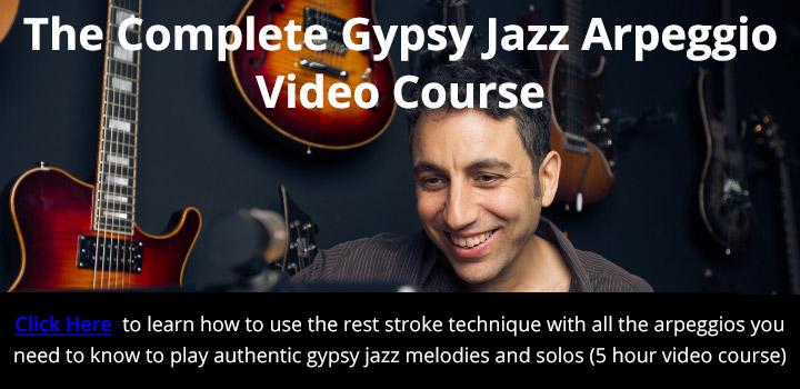 The Complete Gypsy Jazz Arpeggio Video Course