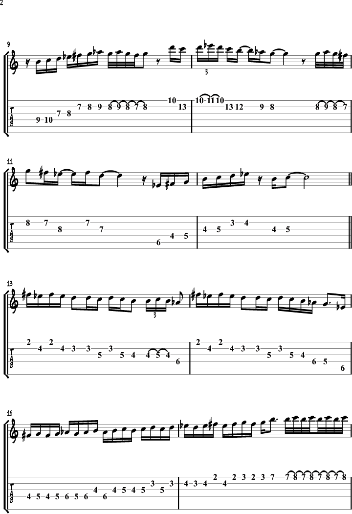 All Music Chords sheet music scale : The Gypsy Minor Scale