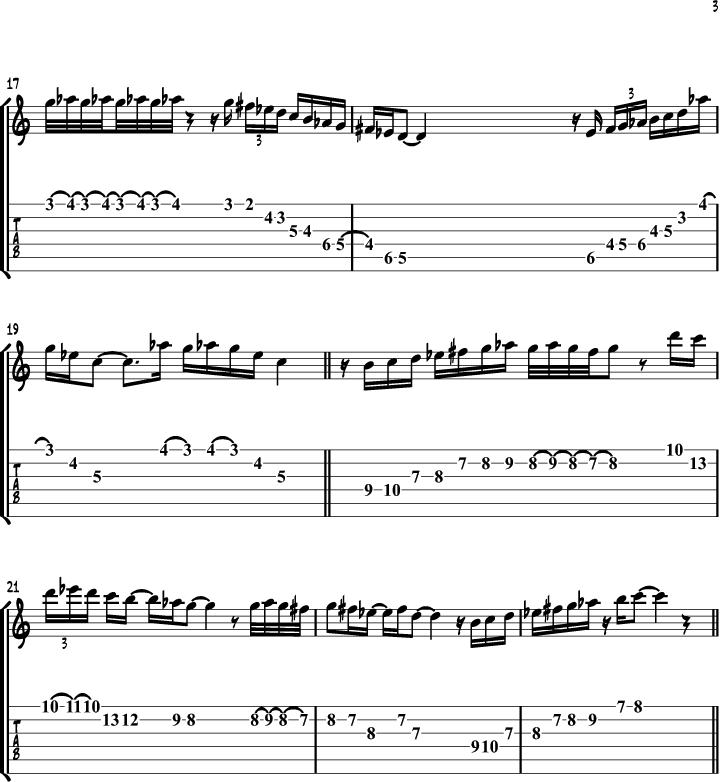 The Gypsy Minor Scale 3
