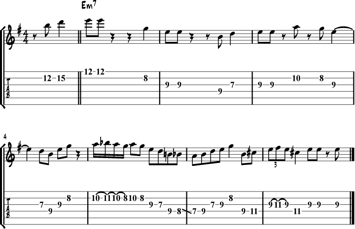 Kenny Burrell My Favorite Things Solo Lick Transcription