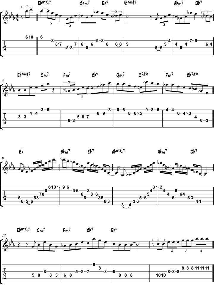 Misty arpeggio study page 1
