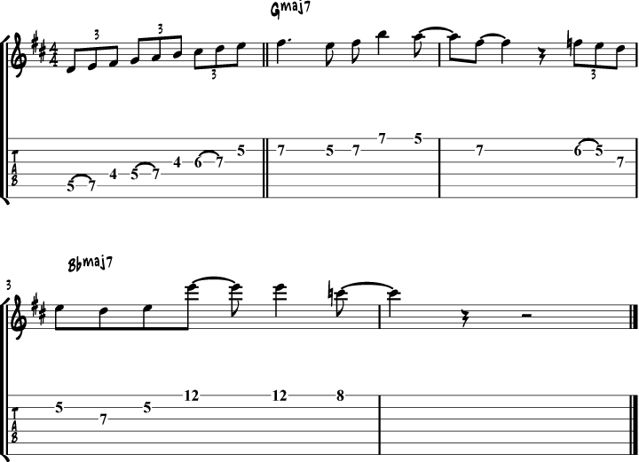 Pat Metheny Bright Size Life Lick Transcription