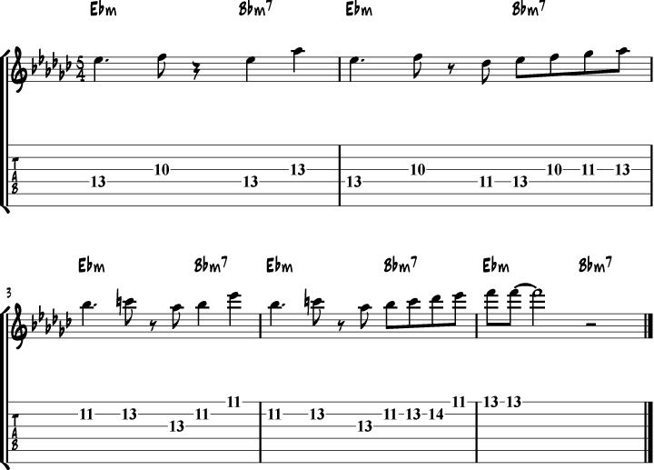 Take Five Paul Desmond Licks For Guitar