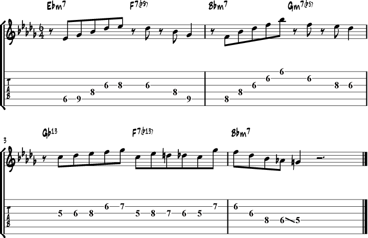 Wes Montgomery Besame Mucho Lick Transcription