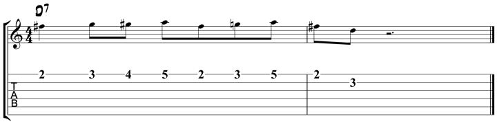 Charlie Parker For Guitar : Lick 4