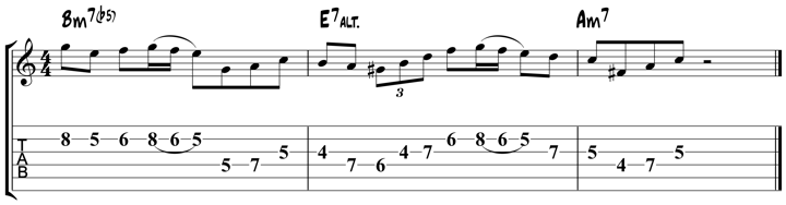 Charlie Parker For Guitar : Lick 5
