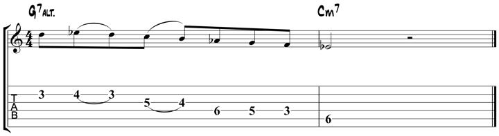 Guitar Tablature : Pat Martino : Lick 1