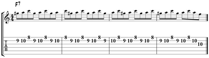 Guitar Tablature : Pat Martino : Lick 3
