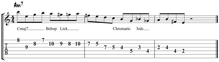 Guitar Tablature : Pat Martino : Lick 5
