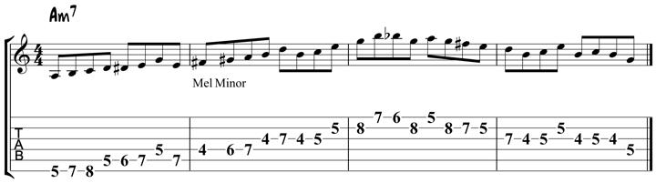 Guitar Tablature : Pat Martino : Lick 6