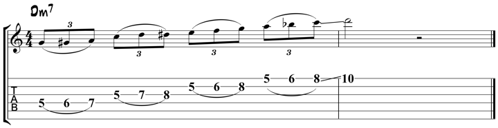 Guitar Tablature : Pat Metheny : Lick 2