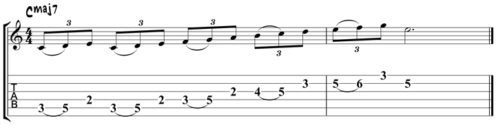 Guitar Tablature : Pat Metheny : Lick 4