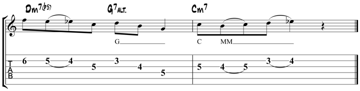 Guitar Tablature : Pat Metheny : Lick 5
