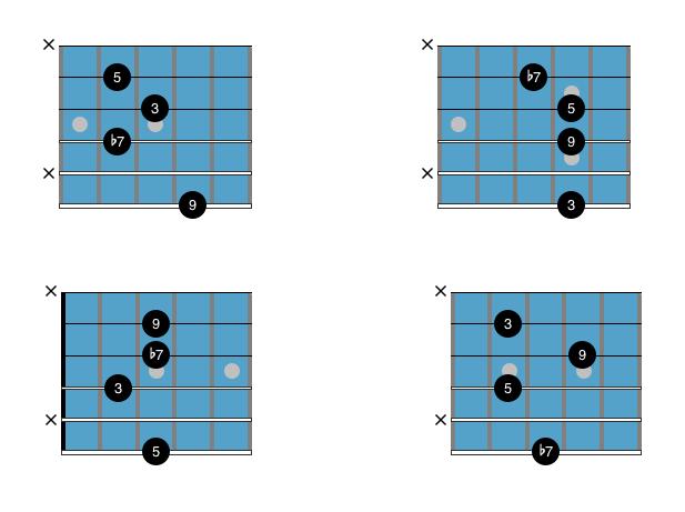 Guitar Chord Chart : Drop 3 C9 1